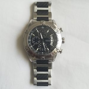 Used Black and Silver Watch